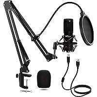 VeGue - Micrófono de Condensador, Kit de Micrófono de Grabación USB, Conjunto de Chips de Sonido Profesional para…