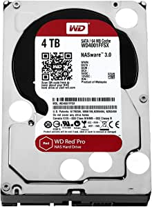 WD Red Pro 4TB NAS Hard Disk Drive - 7200 RPM SATA 6 Gb/s 64MB Cache 3.5 Inch - WD4001FFSX