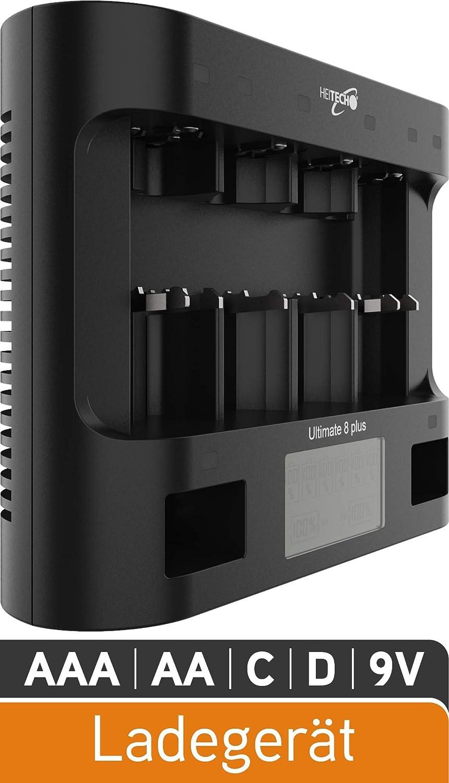 HEITECH Cargador Pilas Ultimate 8+: Amazon.es: Electrónica