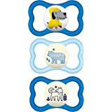 MAM Air Night and Day Pacifiers (1 Day and 2 Night Pacifiers), MAM Sensitive Skin Pacifier 16 Months, Glow in The Dark…