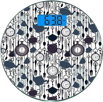 Escala digital de peso corporal de precisión Ronda Fiesta del té ...