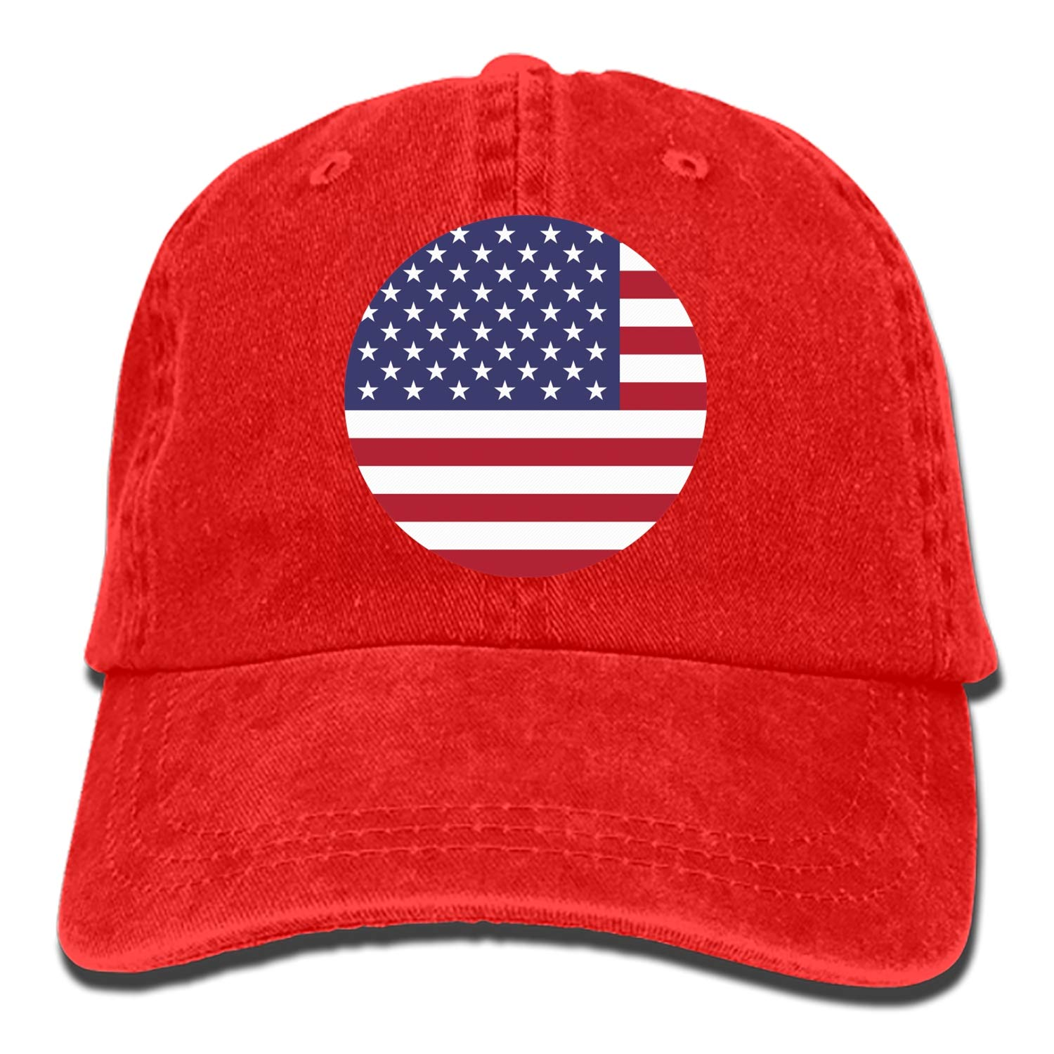 Custom USA Flag Classic Cotton Adjustable Baseball Cap Dad Trucker Snapback Hat