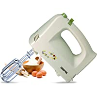 Geepas 160W Hand Mixer - Electric Handheld Food Collection Hand Mixer for Baking - 5 Speed Function, Includes Stainless Steel Beaters & Dough Hooks, Eject Button - 2 Year Warranty