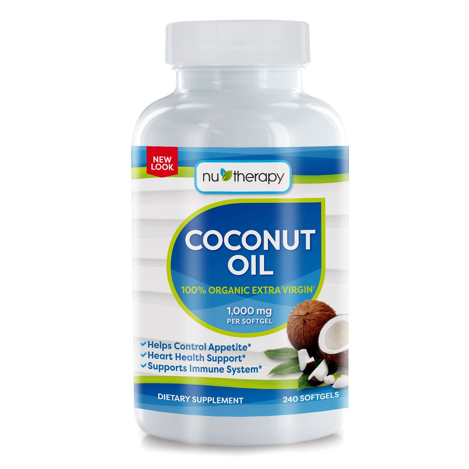 NuTherapy Coconut Oil Dietary Supplement (240 ct.) (pack of 6)