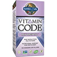 Garden of Life Vitamin Code Raw Prenatal Vegetarian Multivitamin Supplement with Folate, Iron, Probiotics & Ginger | Non-GMO, Dairy & Gluten Free, Best Whole Food Vitamin for Mom & Baby, 90 Capsules