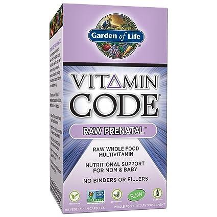 Garden of Life - Ayuda alimenticia prenatal CRUDA del código de la vitamina para la mamá