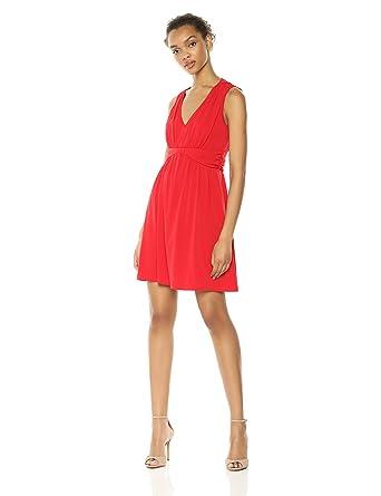 Amazon.com  Wild Meadow Women s Sleeveless Draped V-Neck Jersey ... 959e5c4f0