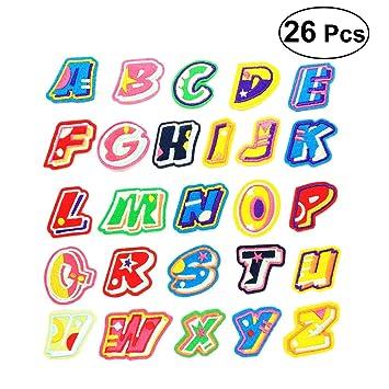 Healifty DIY Buchstaben Patches Cartoon Applique Zubehör Nähen ...