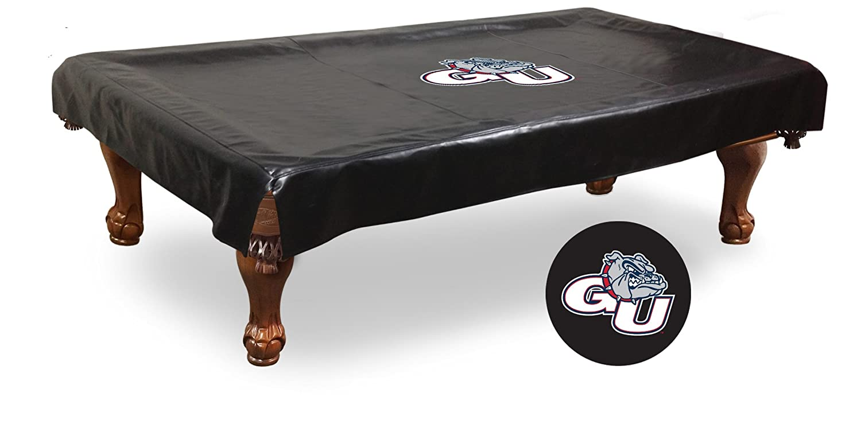Gonzaga Bulldogs HBSブラックビニールビリヤードプールテーブルカバー B01JM7MCYS  88\