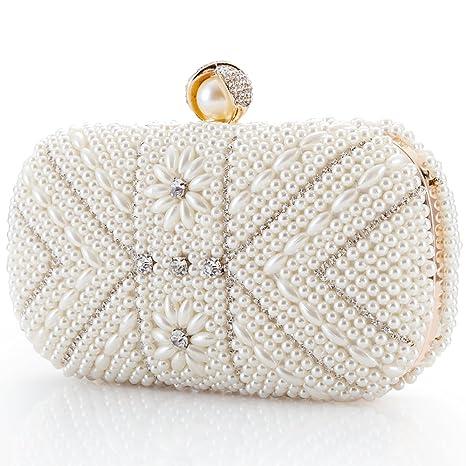 Damentaschen Luxus Abendtasche Handtasche Perlen Kristall Tasche Schultertasche Brauttasche