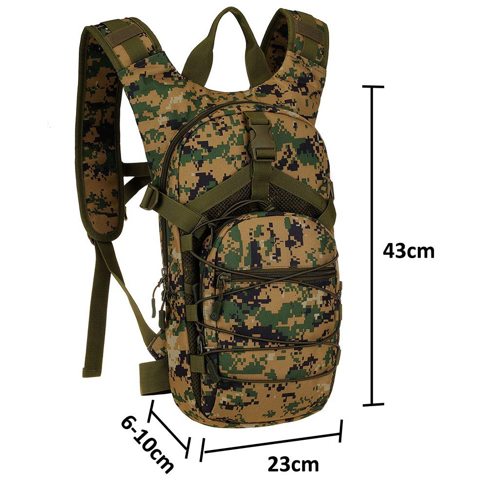Climbing No Included Hiking Day Pack Perfect for Travel Running SINAIRSOFT 15L Hydration Pack Camping 2.5L Water Bladder Cycling Backpack