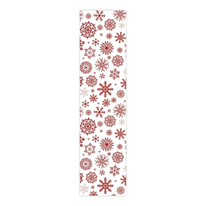 YaYa Cafe Christmas Decorations Table Runner Cloth Cover Xmas Snowflake