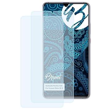 Bruni 2x Folie Für Huawei Mate 20 X Schutzfolie Displayschutzfolie Tablet & Ebook-zubehör
