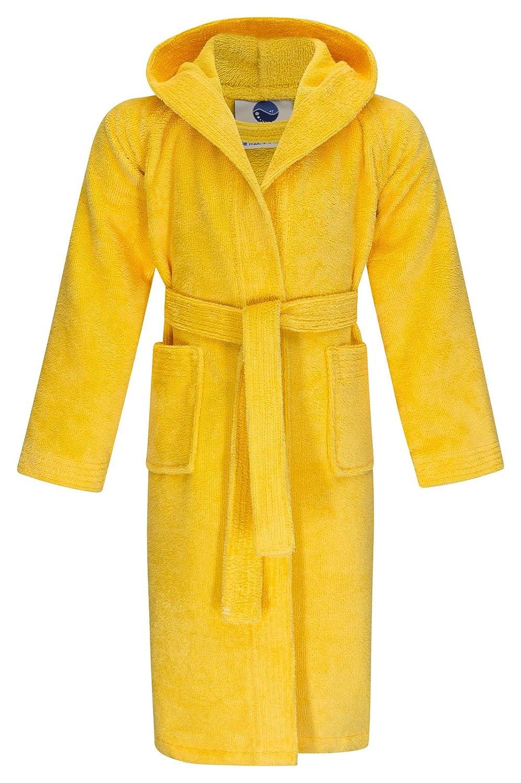 Sonderangebot Kinder Bademantel Twin-Star mit Kapuze gelb von Floringo Gr. 116
