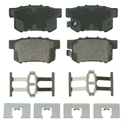 Wagner QuickStop ZD536 Ceramic Disc Pad Set Includes Pad Installation Hardware, Rear: Automotive