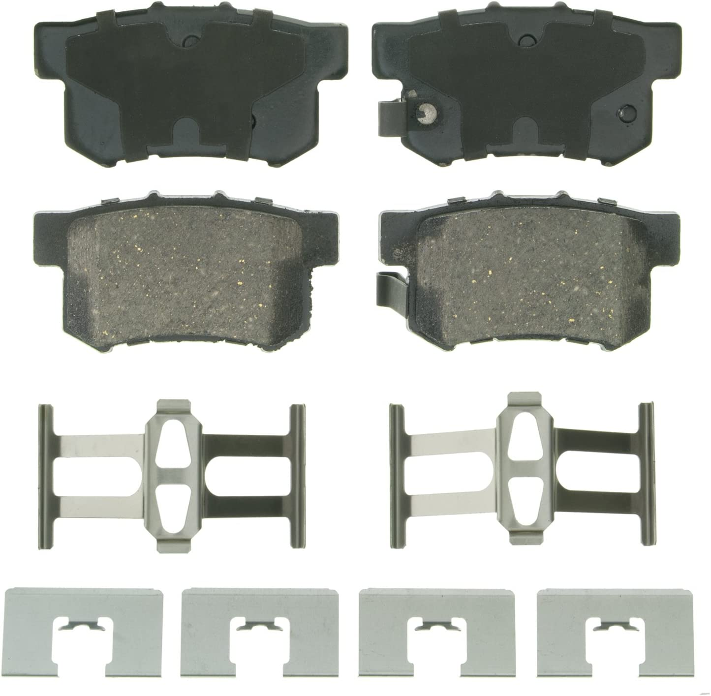 Wagner QuickStop ZD866 Ceramic Disc Pad Set Includes Pad Installation Hardware,