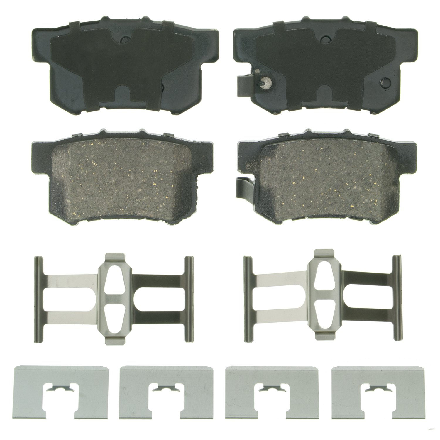 Wagner QuickStop ZD536 Ceramic Disc Pad Set Includes Pad Installation Hardware, Rear