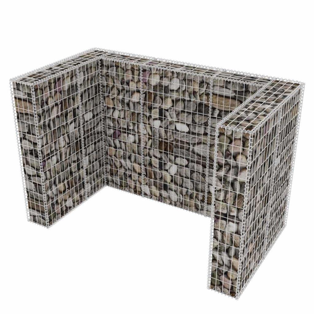 vidaXL Gabbione in Rete dAcciaio per 2 Cassonetti 180x100x120 cm da Giardino