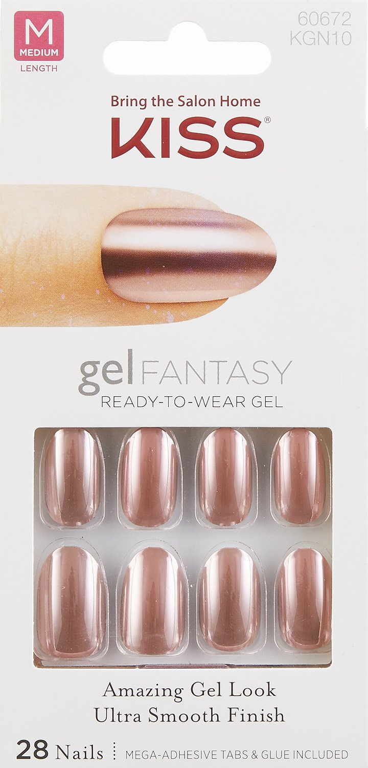 Amazon.com : Kiss GEL FANTASY MEDIUM OVAL Nails \