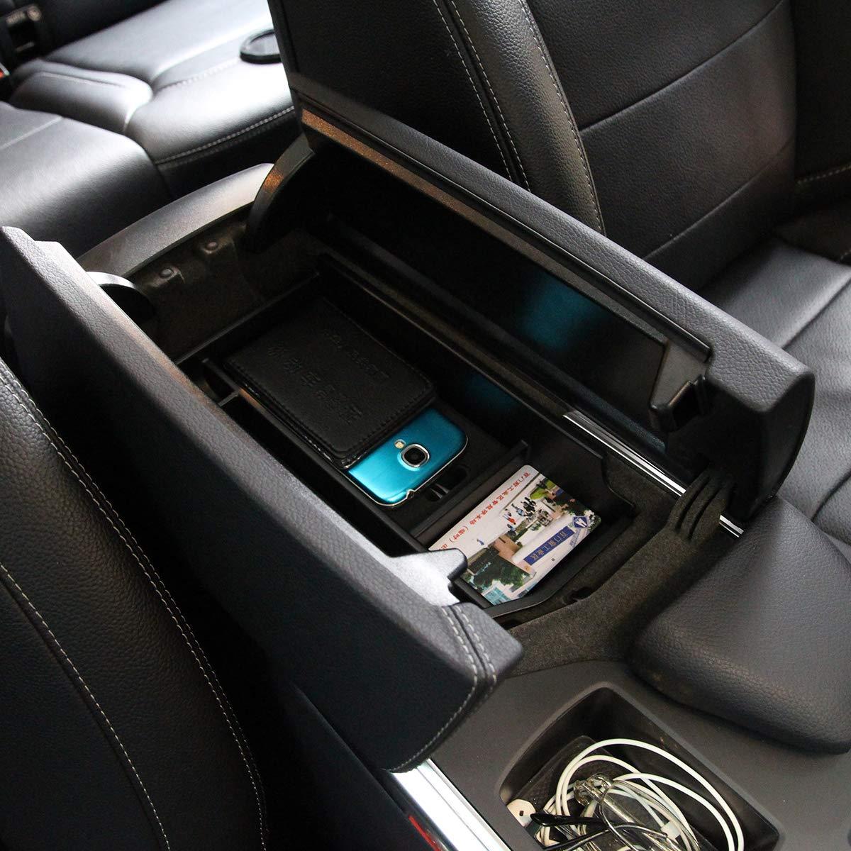 Bandeja organizadora para consola central de coche con reposabrazos para Benz ML GL GLE GLS Clase C292 W166 2012-2018 conductor izquierdo