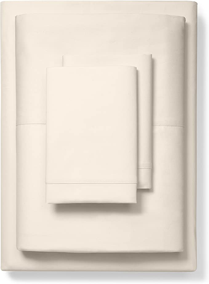 Boll Branch Luxury Fair Trade Long Staple Organic Cotton Sheet Set King Natural Home Kitchen Amazon Com
