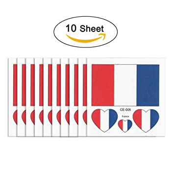 Adhesivos de tatuaje temporales Joseche con bandera nacional, 10 unidades, de moda, impermeables
