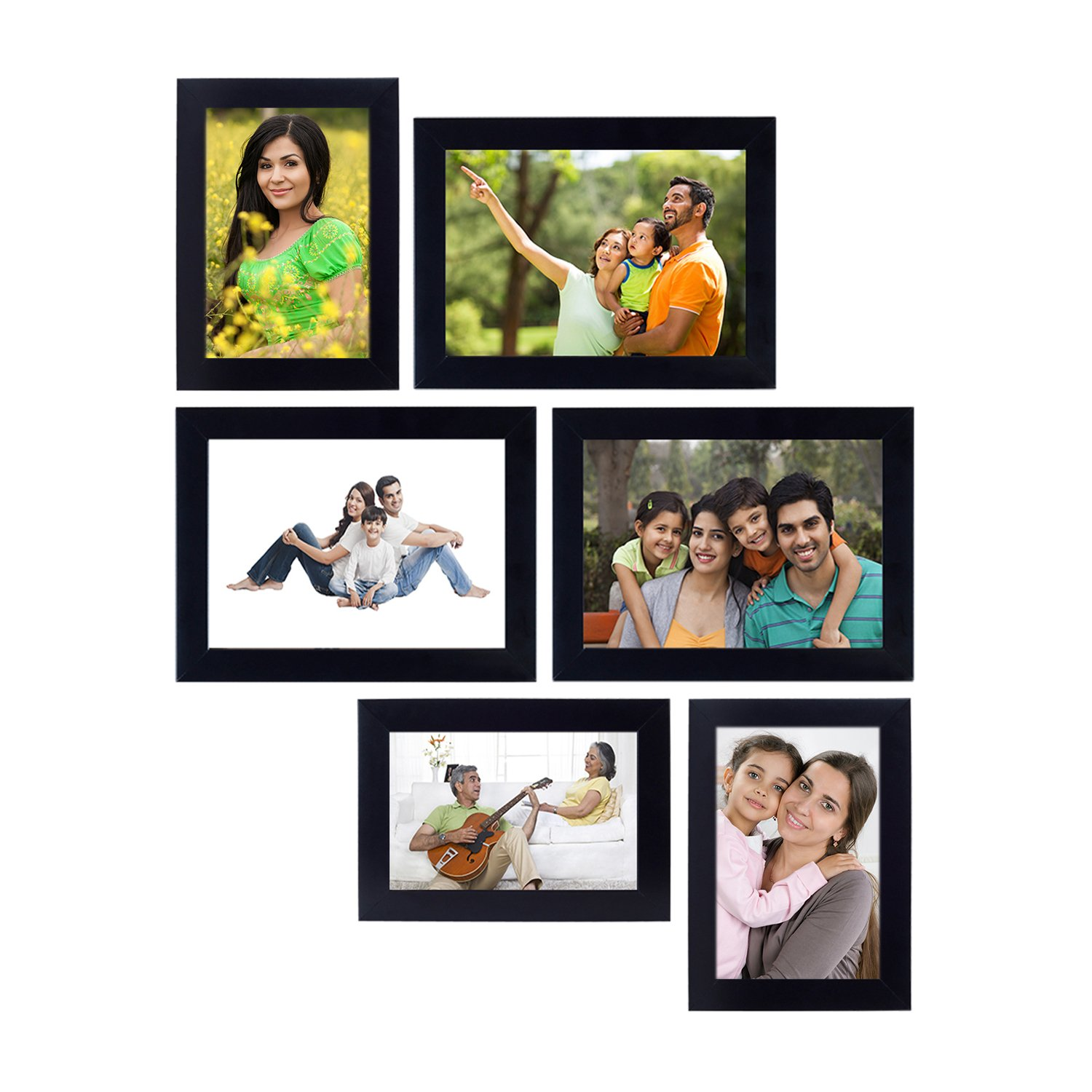 Photos In Frames : Blue border flowers, green photo frame flowers new.