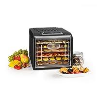 Klarstein Fruit Jerky Plus 6 • Dörrautomat • Dörrgerät • Obst-, Fleisch- und Früchte-Trockner • 420 - 500 Watt • 6 Ablagegitter • Antihaftbeschichtung • LCD-Display • einstellbare Temperatur • programmierbarer Timer • einfache Reinigung