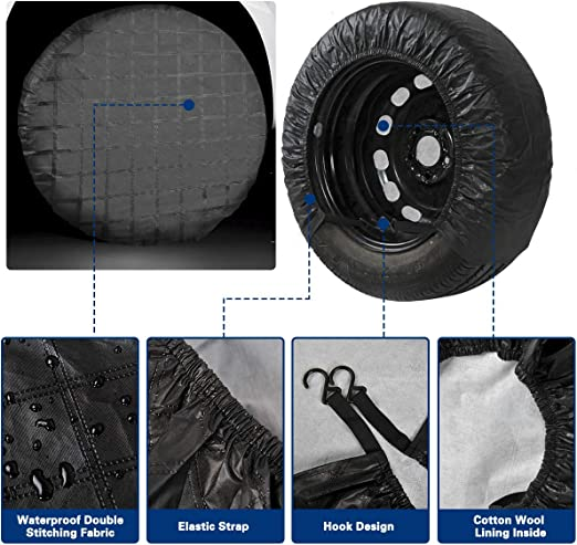 Kangmei Tire Covers Minnesota American Football V-iki-ngs Universal Spare Wheel Tire Cover for Trailer RV Truck etc. SUV