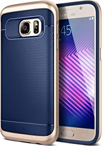 Caseology Wavelength for Samsung Galaxy S7 Case (2016) - Navy Blue/Gold