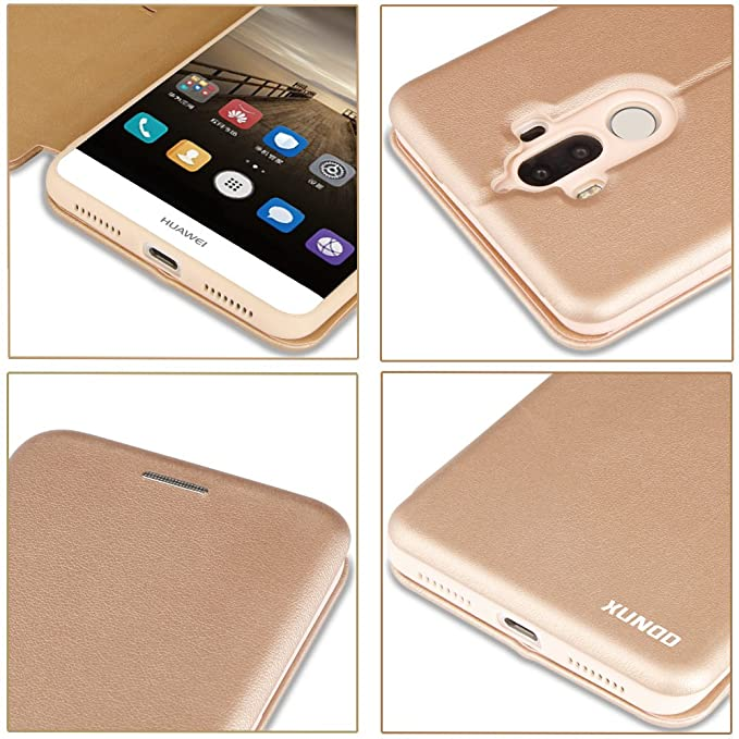 83684907d7d XUNDD Huawei Mate 9 Flip Folio Premium Leather Wallet: Amazon.co.uk:  Electronics