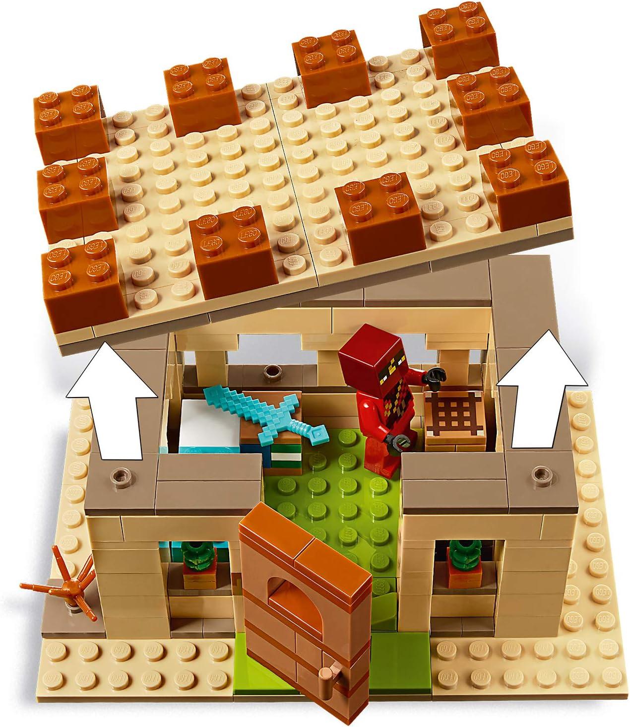 Jeu Construction et Aventure Issu du C/él/èbre Jeu de R/ôle 8 Ans Et Plus 21160 Lattaque des illageois LEGO/® Minecraft/™ 562 Pi/èces