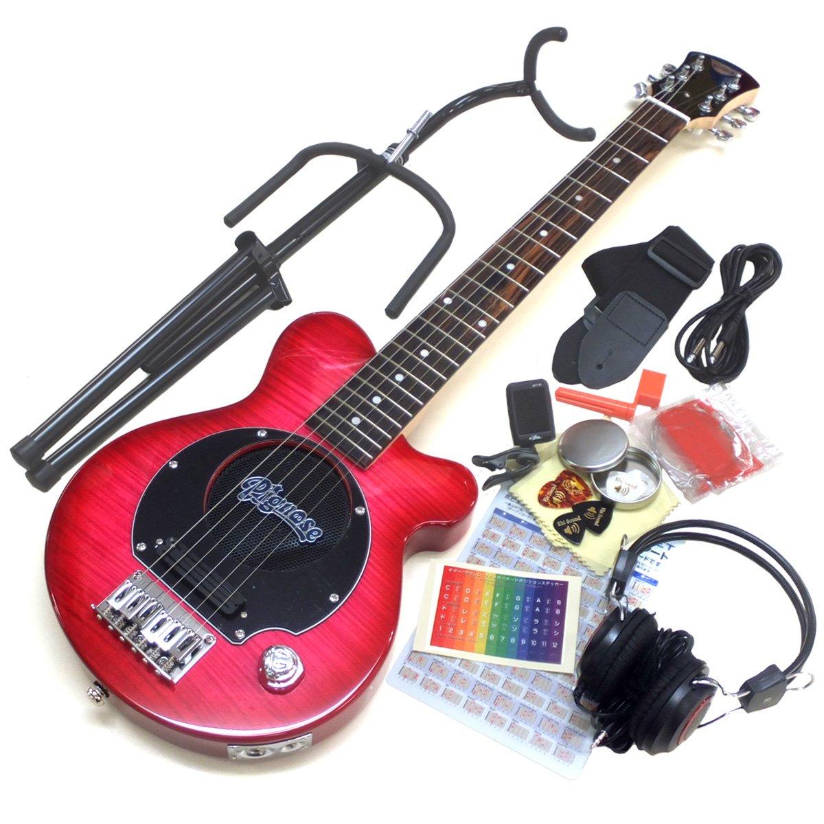 Pignose ピグノーズ ギター PGG-200FM SPK アンプ内蔵ミニギター15点セット [98765]【検品後発送で安心】   B00SOEISAI