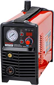 CNC Plasma Cutter, HeroCut55i Dual Voltage 120/240v Non-HF Blowback Pilot Arc Non-Touch IGBT Digital Inverter Air Plasma Cutting Machine 50Amps 16mm Clean Cut, Max Severance Cut 25mm