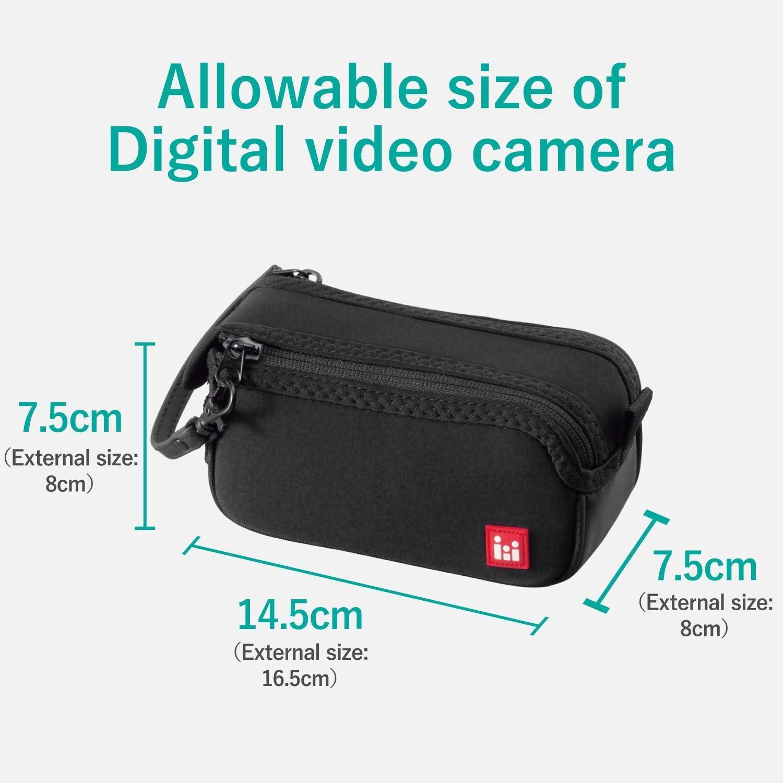 ELECOM Digital Video Camera case Shoulder Strap Black DVB-016BK