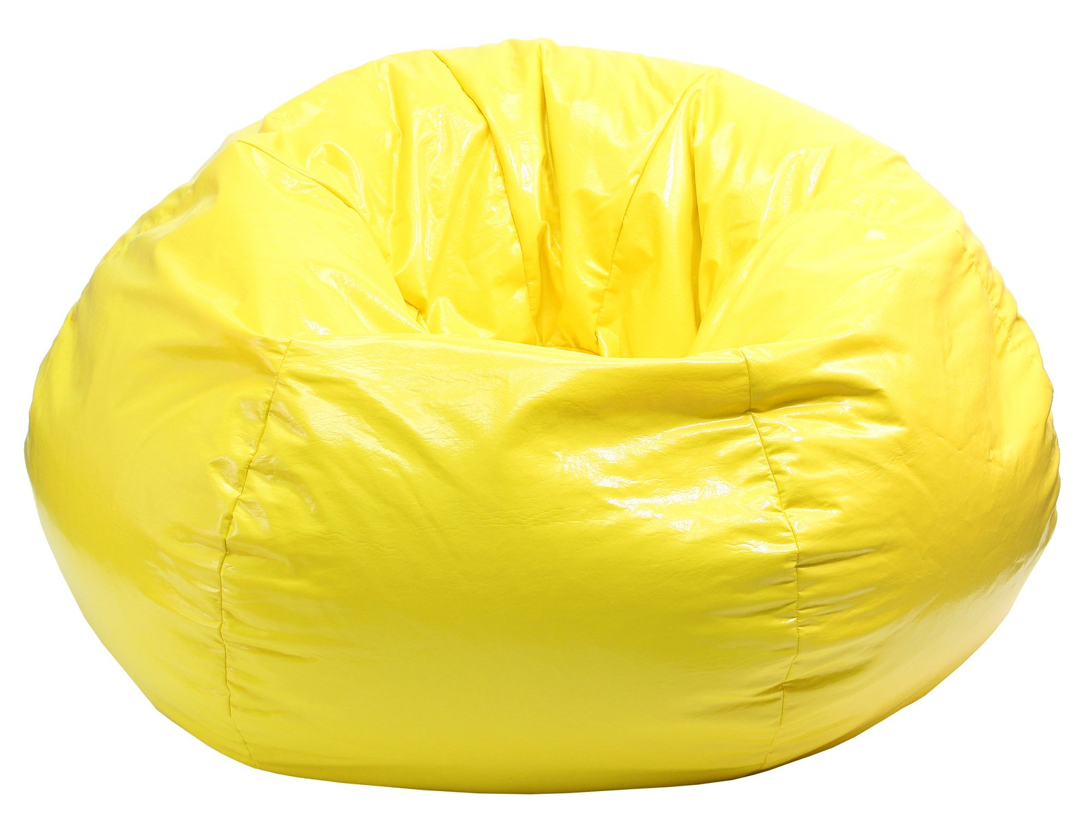 Gold Medal Bean Bags Wet Look Vinyl Bean Bag, XX-Large, Yellow