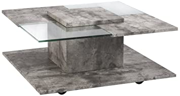 Cavadore Couchtisch Django Quadratischer Kleiner Wohnzimmer Tisch
