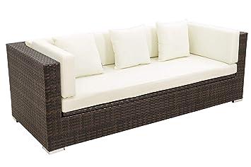 Amazonde Outflexx 3 Sitzer Sofa Aus Robustem Polyrattan In