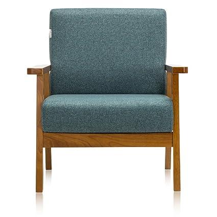 Krei Hejmo Vintage marrón madera sillones sofá en tela ...