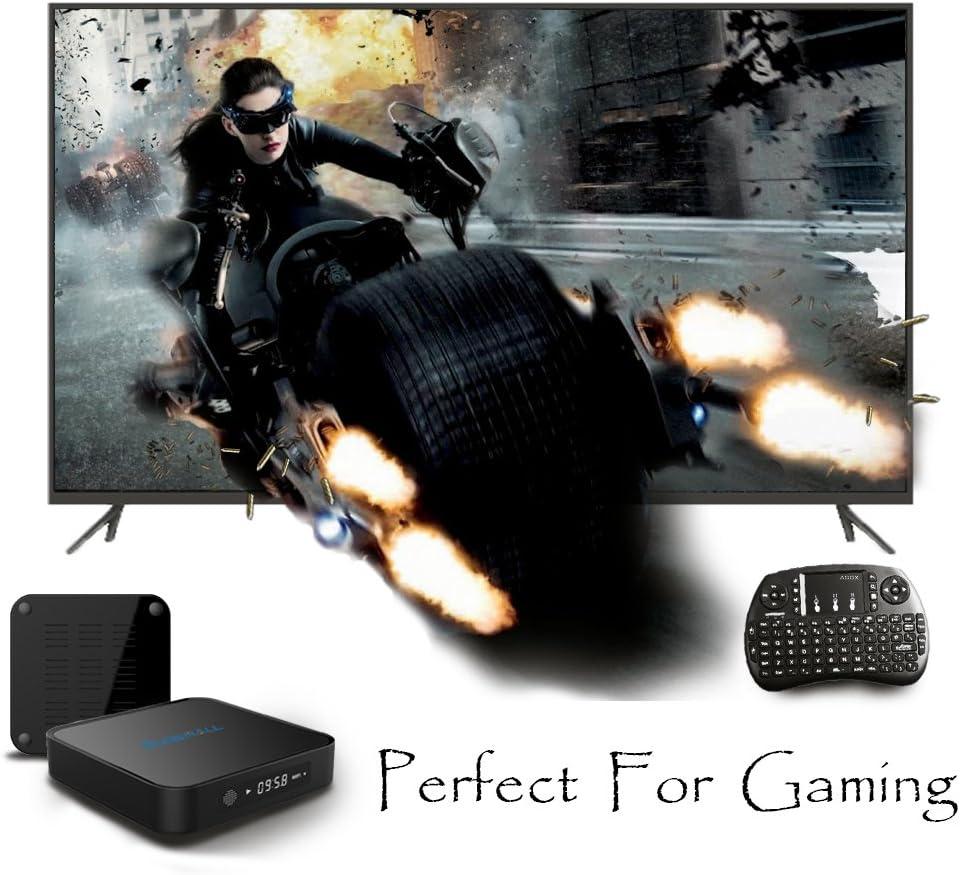 glob Mall X1 Android 6.0 Smart TV Box Bluetooth 4,0 Amlogic Quad Core CPU pantalla LCD con teclado cierto 4 K WiFi Smart TV: Amazon.es: Electrónica