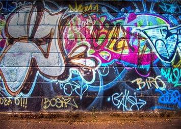 Amazoncom Leowefowa 7x5ft Graffiti Backdrop 80s Hip Hop