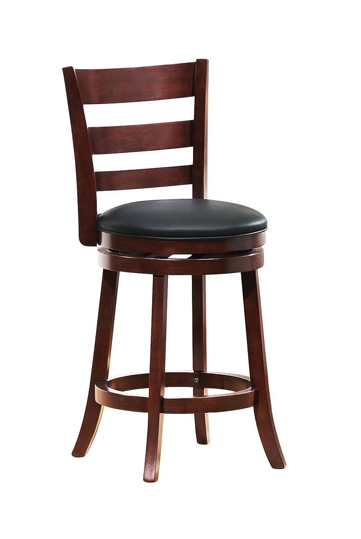 Amazon.com: Homelegance 1144E 24S Swivel Counter Height Chair/Stool, Dark  Cherry: Kitchen U0026 Dining