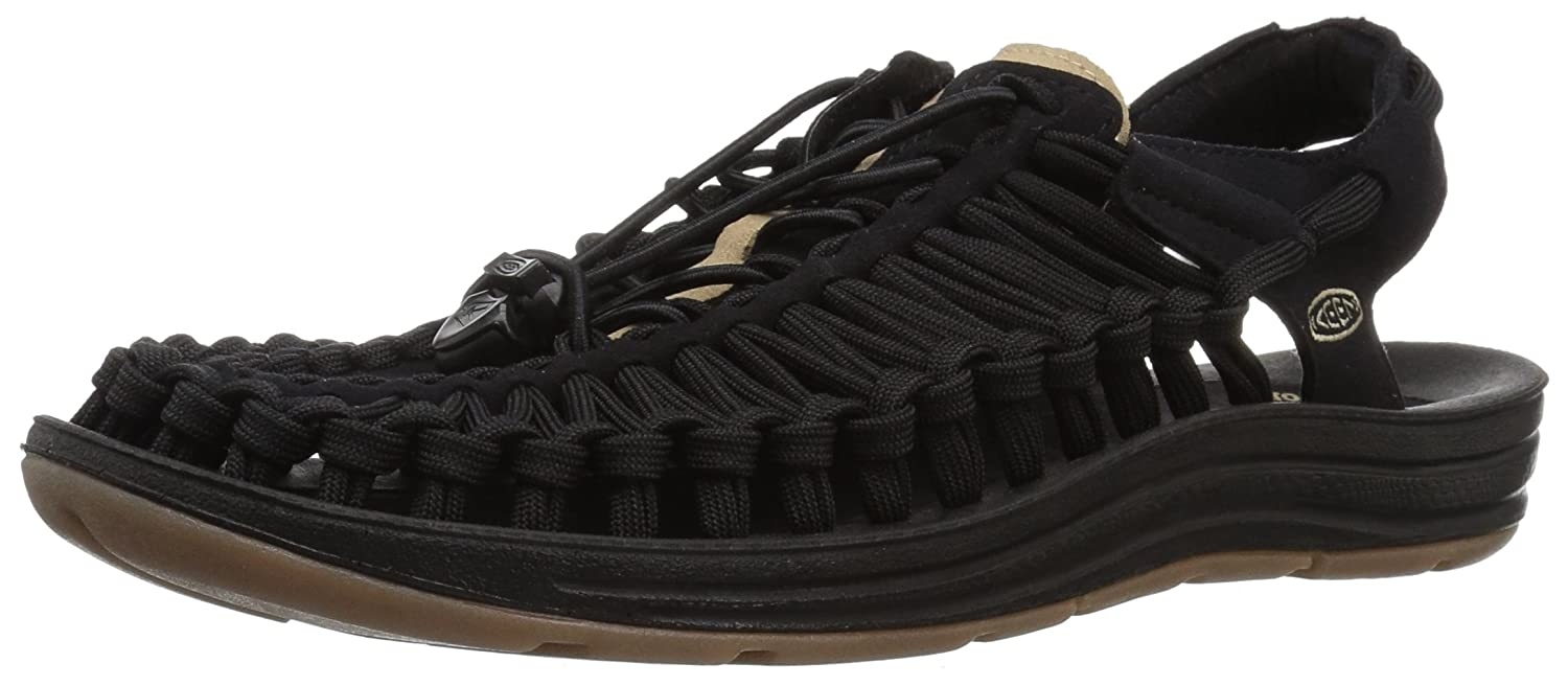 [キーン] KEEN サンダル UNEEK FLAT メンズ (2017モデル) B01MRLSLXE 26.5 cm Black/Incense