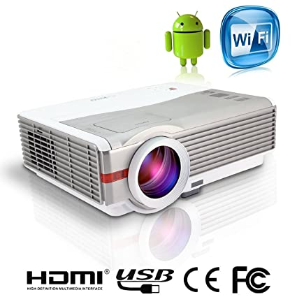 Amazon com: LCD LED Android Wireless Projector with HDMI