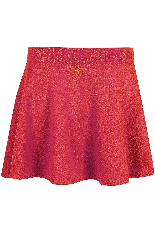 Be Jealous Kid's Skater Skirt School Uniform High Waist Stretch Swing Mini Skirt