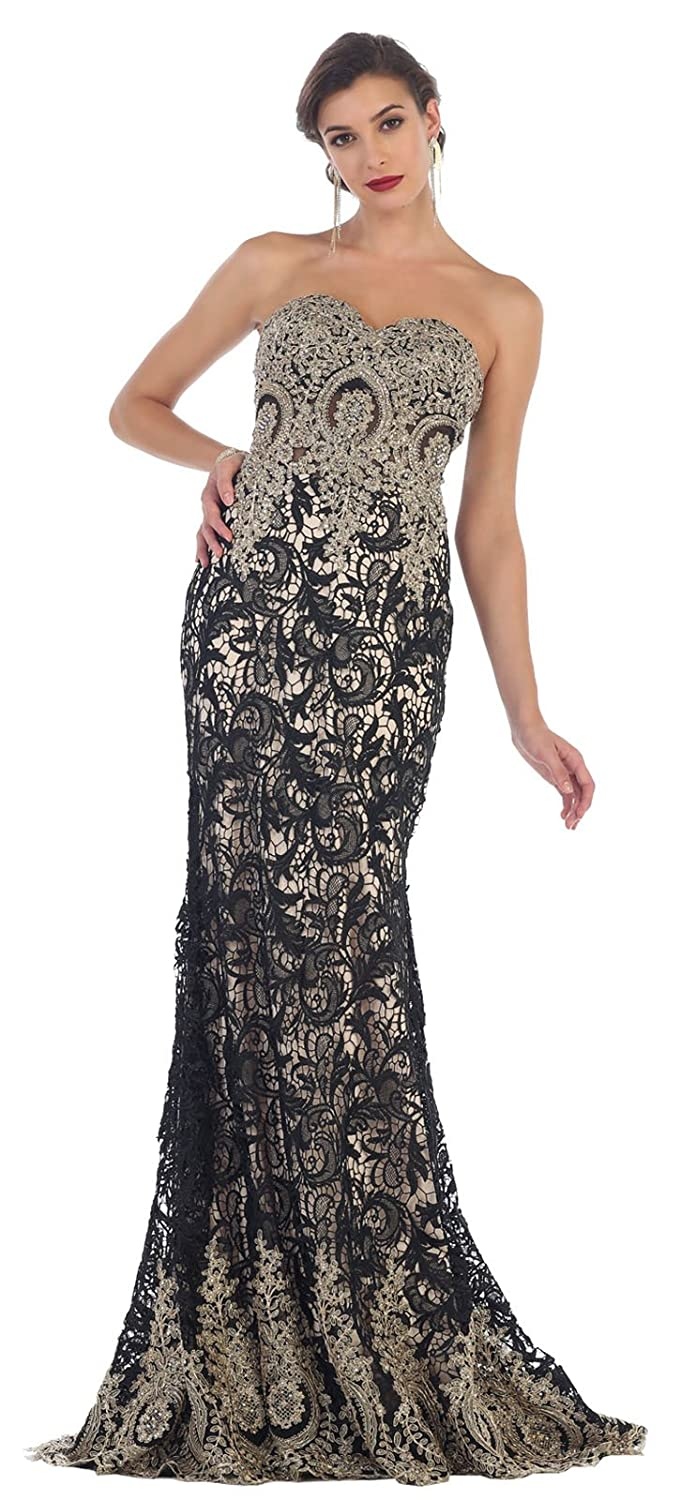 Royal Queen RQ7458 Lace Red Carpet Evening Gown at Amazon Womens Clothing store: