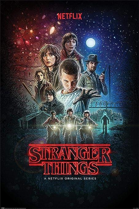 Stranger Things Póster Netflix Original Series (61cm x 91,5cm) + 1 Paquete de tesa Powerstrips® (20 Tiras)
