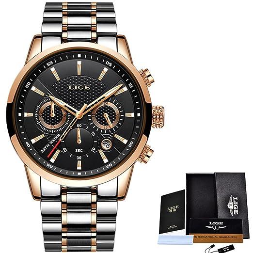 Relojes de lujo Hombres Moda Deporte Militar Reloj de cuarzo Hombres de negocios de acero a ...