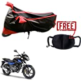 Kandid Water Resistant Bike Body Cover for Bajaj Pulsar 150 DTS-i (with Pollution Mask)