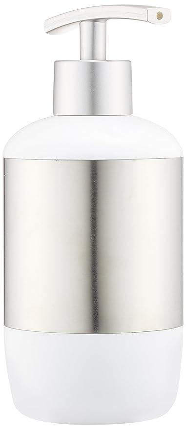 Wenko Loft Dosificador Jabón, Acero Inoxidable, Plata, 7.6x7.6x18.5